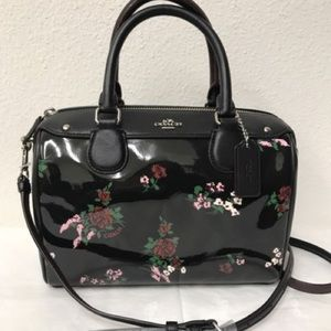 Coach Mini Bennett Satchel w/ cross stitch floral